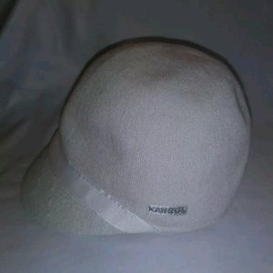 Kangol Bamboo Cream Off White Cap Hat Size Kids S